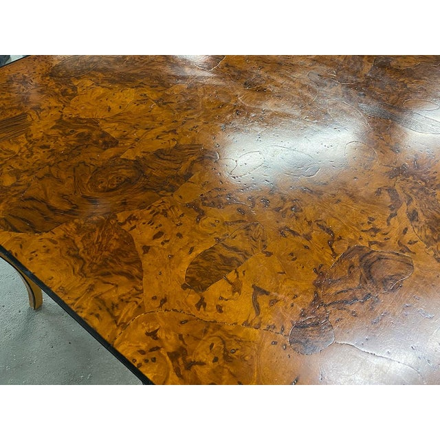1970s Stunning Oyster Olivewood Burl Table, Made in Italy For Sale - Image 9 of 13