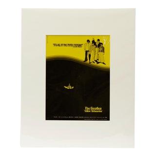 The Beatles Yellow Submarine Memorabilia, 1968 / Vintage Movie Ad Art Transparency For Sale