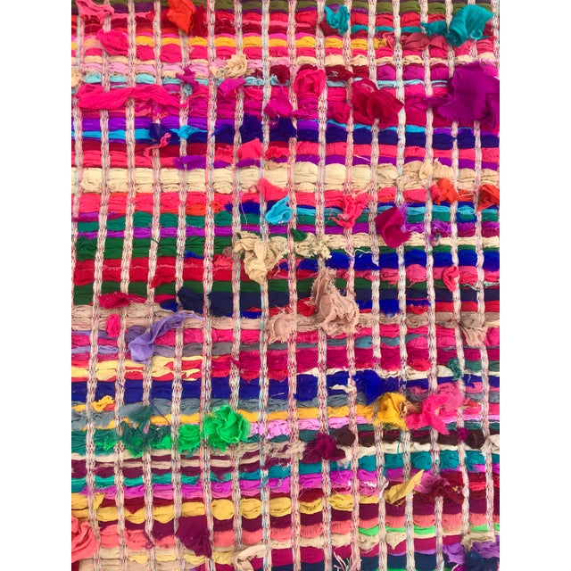 Indian Multicolor Rug - 4′ × 6′ For Sale In New Orleans - Image 6 of 11