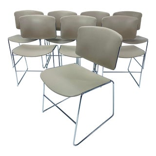 Chrome Steelcase Dining or Office Chairs, 1940 - Set of 8 For Sale