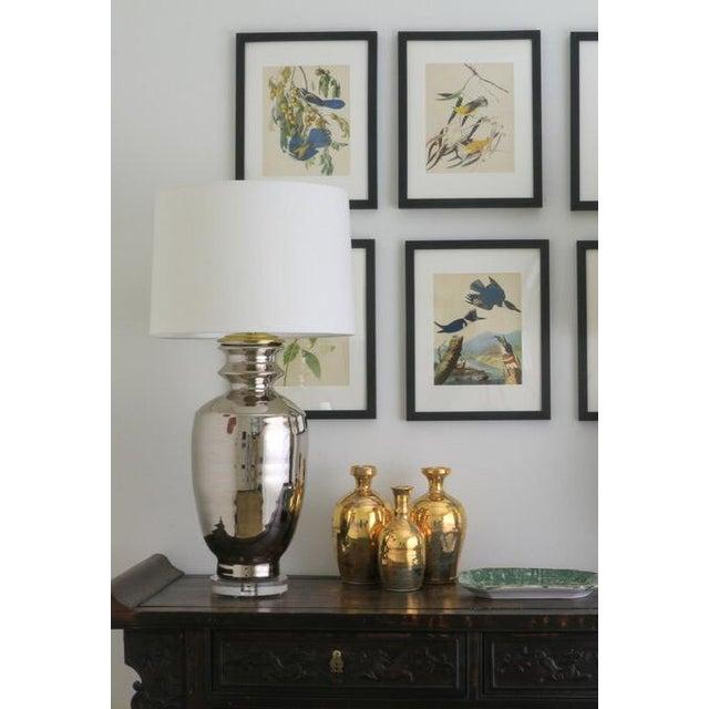 """Ceramic Paul Schneider Ceramic """"Marathon"""" Lamp in Platinum Lustre Glaze For Sale - Image 7 of 9"""