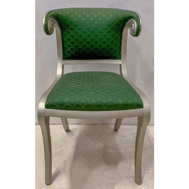 Neoclassical Set of 8 Casa Stradivari Neo-Classical Klismos Dining Chairs For Sale - Image 3 of 12