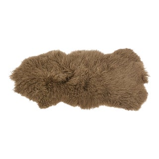 Mongolian Beige Lamb Throw For Sale