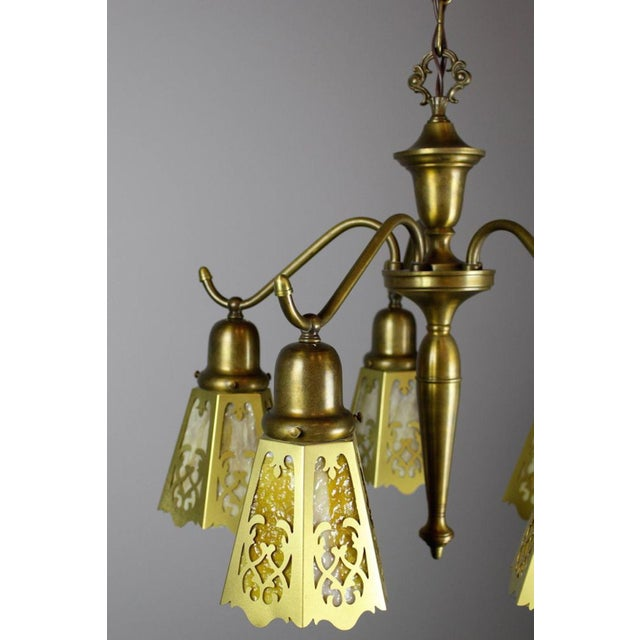Antique Spindle Fixture (5-Light) - Image 7 of 8