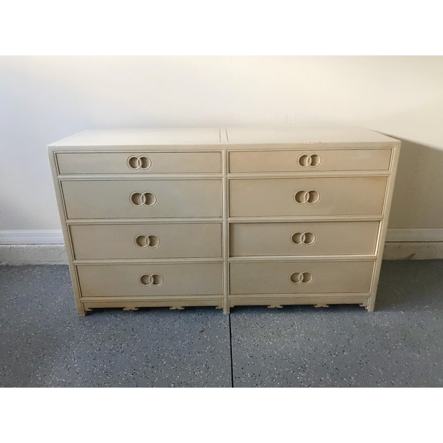 White 1960s Traditional Michael Taylor for Baker Furniture Wood Chest of Drawers For Sale - Image 8 of 8