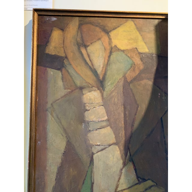 1950s Abstract Figure Janet Huston Painting NW Movement For Sale - Image 4 of 5