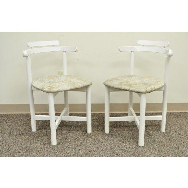 Set 4 Vintage Gangso Mobler Mid Century Danish Modern White Dining Room Chairs - Image 4 of 11