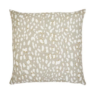 """Piper Collection Beige Linen """"Ollie"""" Animal Print Pillow For Sale"""