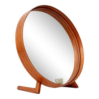 1960s Teak Table Mirror by Uno & Osten Kristiansson for Luxus For Sale