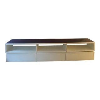 Custom Made Purple & White Sideboard For Sale