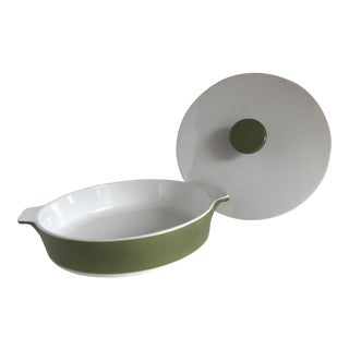 Mid-Century Corning Ware Ceramic Casserole For Sale