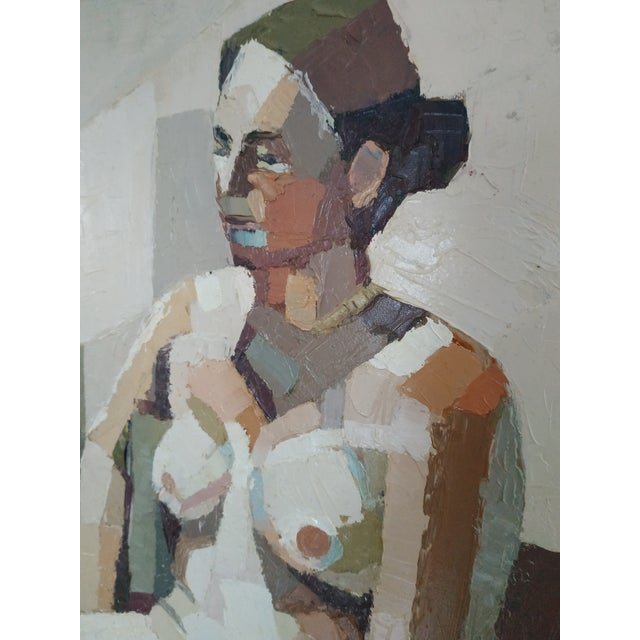 Andy Dobbie Contemporary Oil Painting by Andy Dobbie, Seated Nude V For Sale - Image 4 of 8