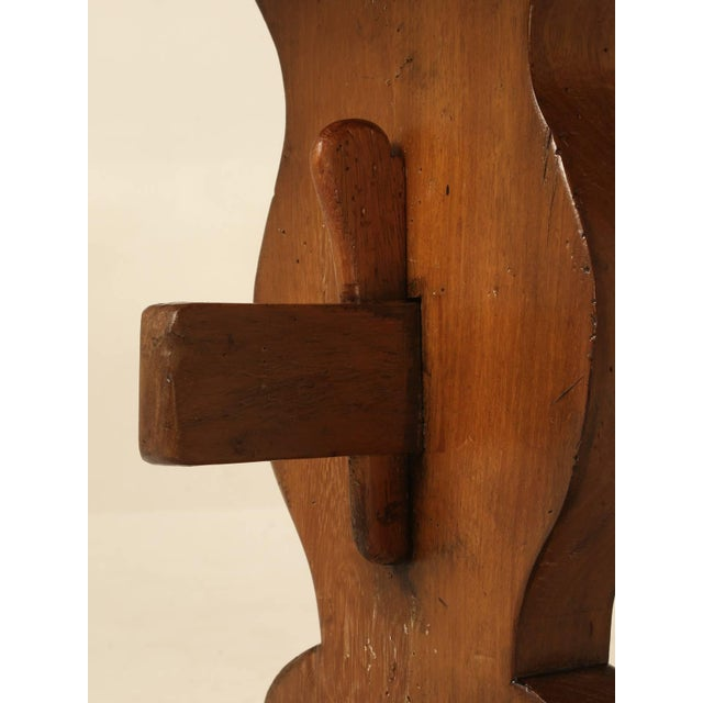 Mahogany French Trestle Table in Solid Mahogany For Sale - Image 7 of 11