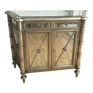 Century Chiffonier Antiqued Mirrored Cabinet