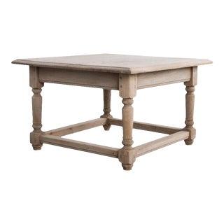 1950s Belgian Oak Coffee Table For Sale