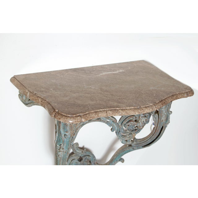 Period Painted Louis XV Console With Shaped Marble Top For Sale - Image 4 of 13