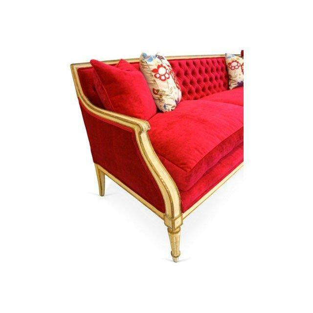 Vintage 1940s Fuchsia Regency Sofa - Image 4 of 6