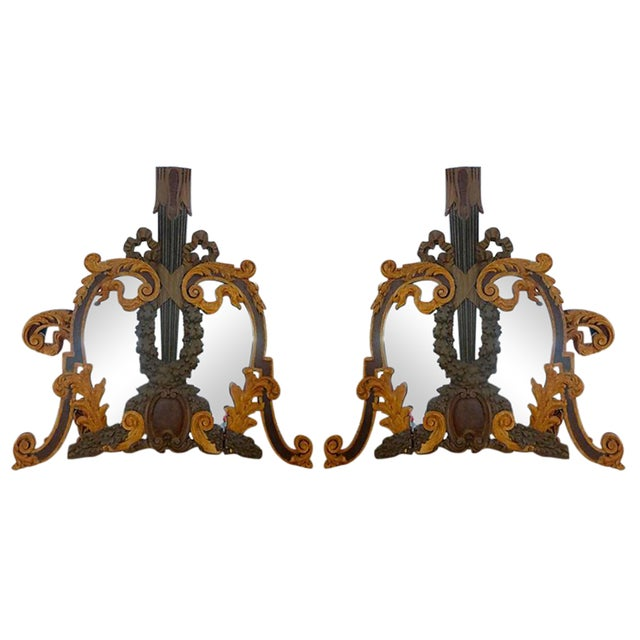 Hand Carved Italian 18th Century Mirrors - Pair For Sale