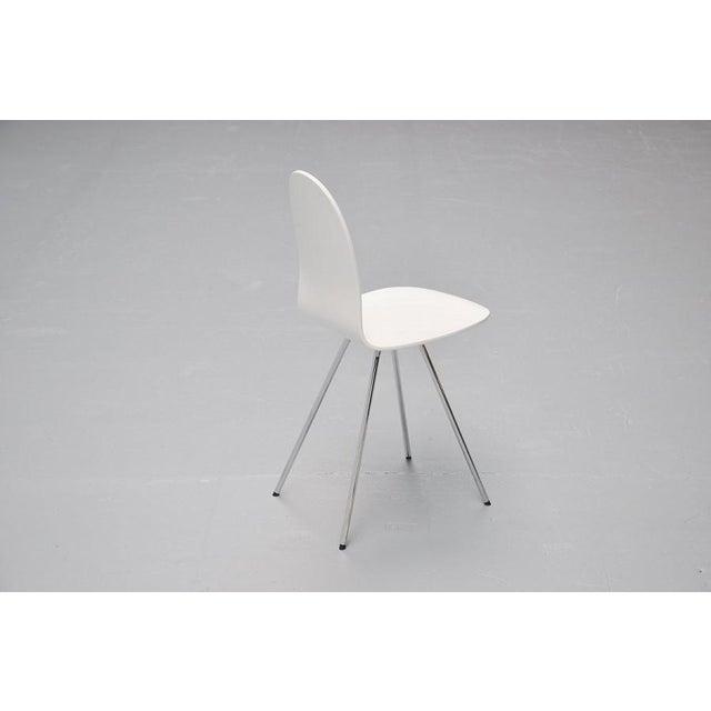 Pair of Arne Jacobsen Tongue chairs Fritz Hansen 1970s - Image 5 of 7