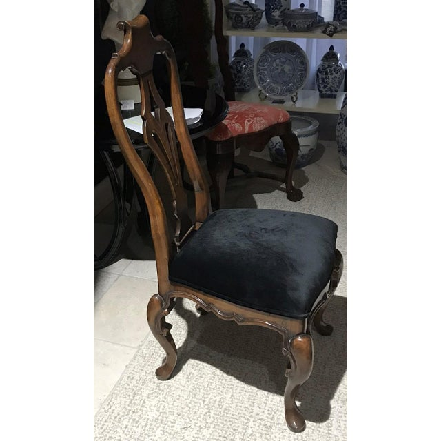 Traditional Guy Chaddock Desk Chair With Velvet Seat For Sale - Image 3 of 5