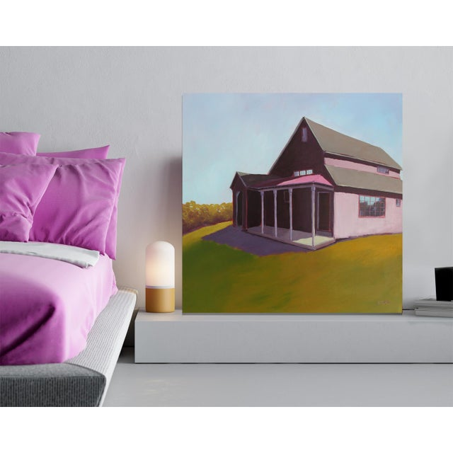 """2010s Carol C Young """"Ken's Barn"""" Painting, 2019 For Sale - Image 5 of 6"""
