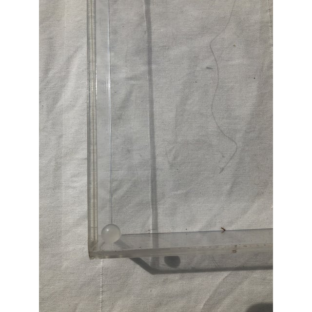 Transparent Large Lucite Tray With Cutout Handles For Sale - Image 8 of 12