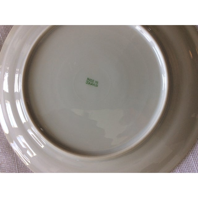 Shabby Chic Floral Leaves Salad Plates - Set of 3 For Sale - Image 3 of 4