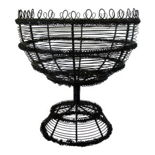 Black Wire Basket For Sale