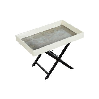 Mid Century Modern Shagreen Folding Tray Table For Sale