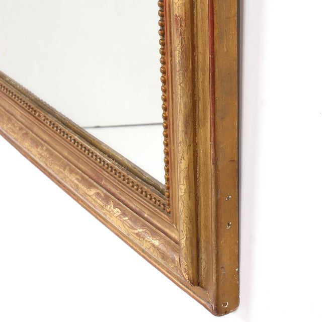 19th Century French Louis Philippe Gilt Mirror With Floral Design For Sale - Image 9 of 11