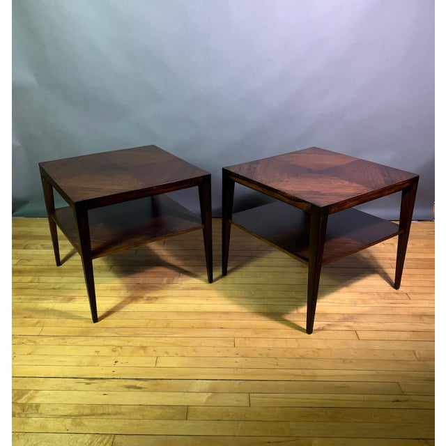 Pair Isaac Teperman Brazilian Rosewood Side Tables, 1950s For Sale - Image 11 of 11