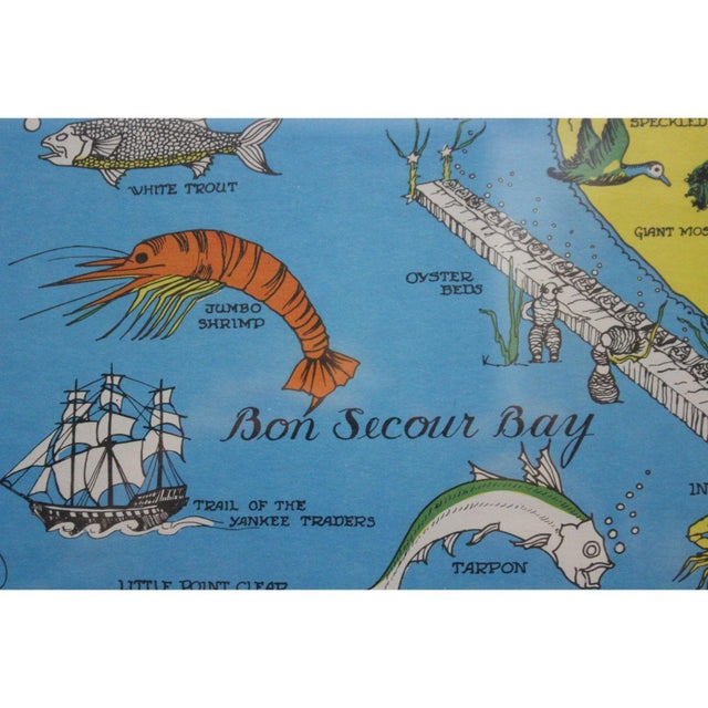 Vintage Map 'On Mobile Bay' by Marion Ackes - Image 6 of 6