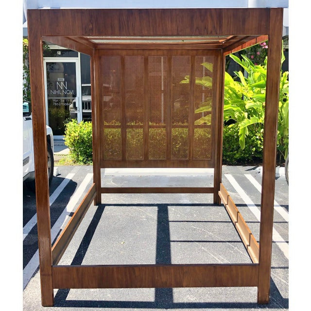 Queen Size Canopy Bed by Drexel Heritage For Sale In Miami - Image 6 of 6