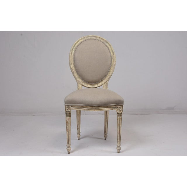 Antique French Louis XVI-Style Dining Chairs - Set of 6 - Image 3 of 10