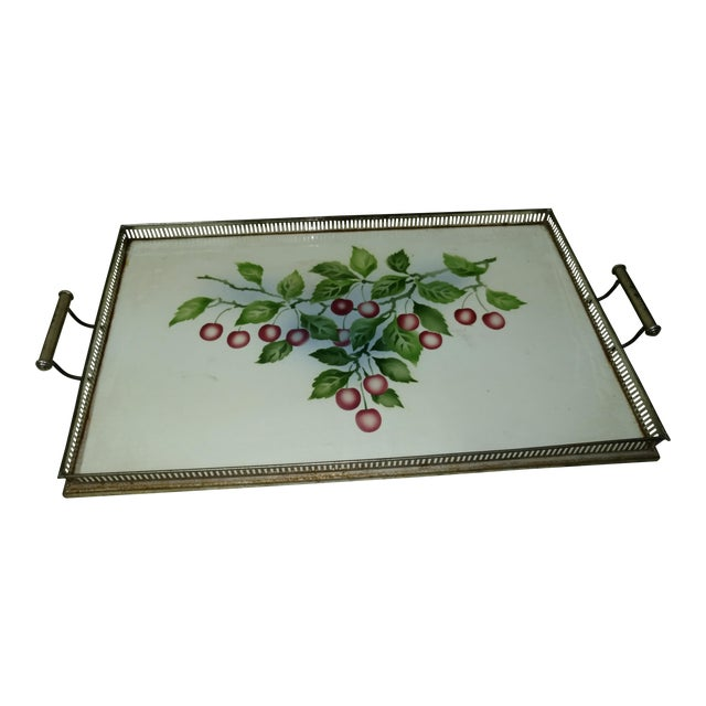 Antique Czechoslovakia Porcelain Tray For Sale