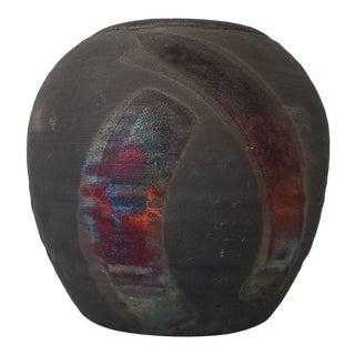 1970s Caldkeh Art Raku Pottery Vase For Sale