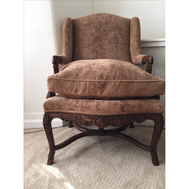 Provence Wing Chairs - A Pair - Image 3 of 4