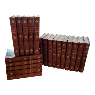 Antique Oeuvres Completes by Louis de Grenade Leather Bound Books - Set of 20 For Sale