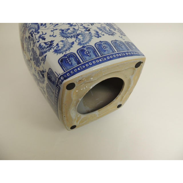 Vintage Blue & White Garden Stool - Image 7 of 7