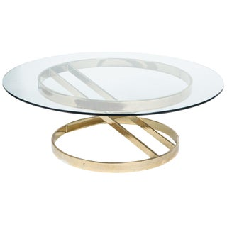 Sculptural Brass Cocktail Table in the Style of Milo Baughman For Sale