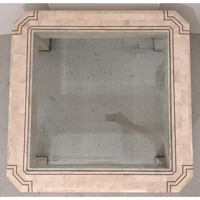 Alexvale Furniture - Tessellate Stone Cocktail Table. W/ Brass Trim, Vintage For Sale In Miami - Image 6 of 10
