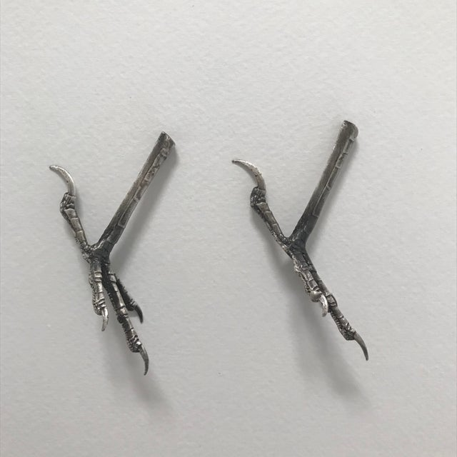 Contemporary Ria Charisse Bird Feet Sculptures - a Pair For Sale - Image 3 of 8
