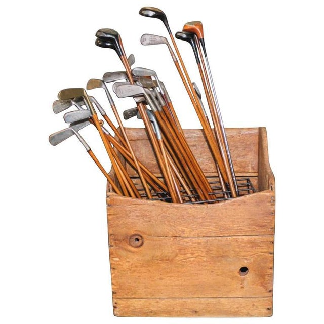 Industrial Collection of 40 Vintage Golf Clubs With Wooden Shaft For Sale - Image 3 of 3