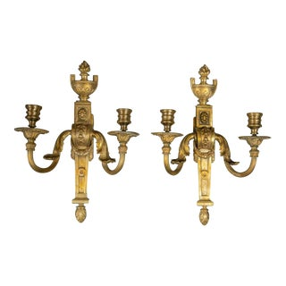 1910s Caldwell Gilt Bronze Sconces - a Pair For Sale