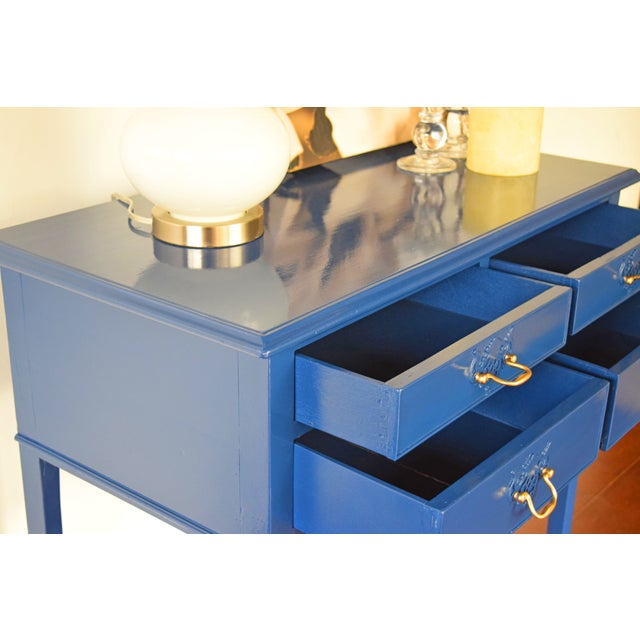 Blue Blue Entryway Console Table For Sale - Image 8 of 9