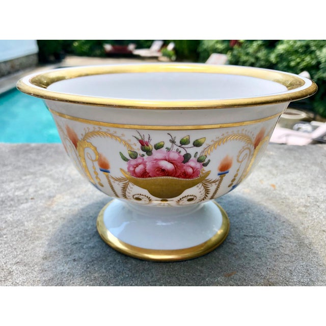Davenport 19th English Traditional Davenport Gilt Decorated Billingsley Roses Bowl For Sale - Image 4 of 12