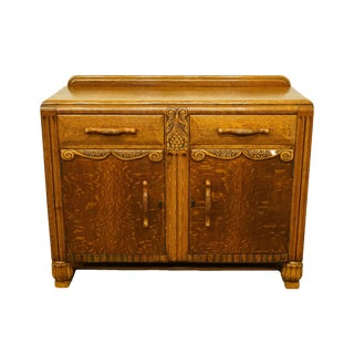 1940's French Country Tiger Oak Buffet/Sideboard For Sale