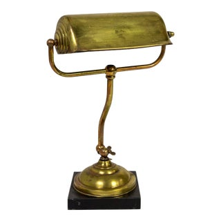 1940's Brass Plated Copper Desk Lamp For Sale