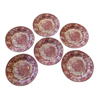 Wood's Burslem England Turkey Plates - Set of 6 For Sale