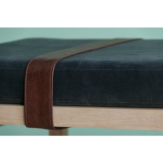 Modern Ebb and Flow Tray Bench in Charcoal Grey For Sale - Image 3 of 6